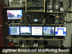 Lightner Broadcast Monitoring Room